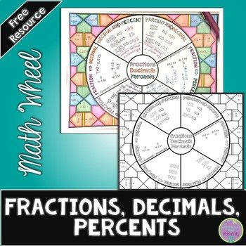 Use this math wheel/graphic organizer as both a notes page and ...