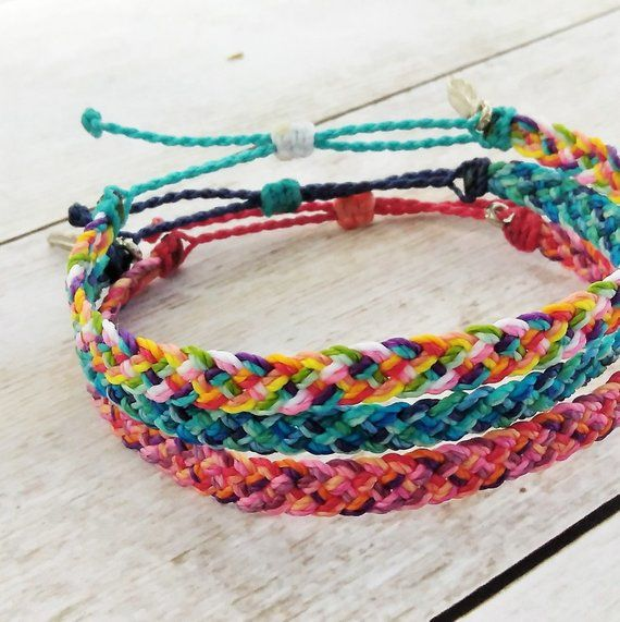 86f5af05658e47 Custom 10 Color Patchwork Braided Bracelet or Anklet Choose 10 colors to  create your own custom jewelry! Make sure to leave your color choices in  the