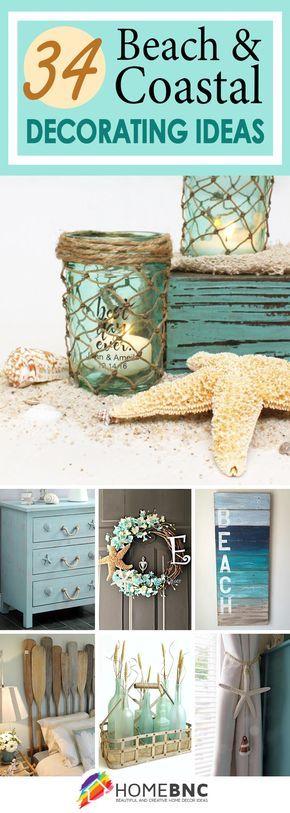 34 Beach and Coastal Decorating Ideas You\u0027ll Adore Coastal decor