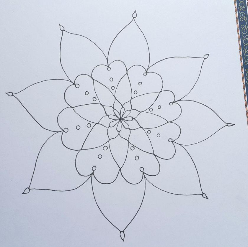 رسم زخارف نباتية