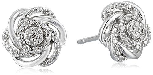 Diamond Earrings Design Sterling Silver 7 Stones Cer Flower Stud 18 You Can Get Additional Details At The Image Link