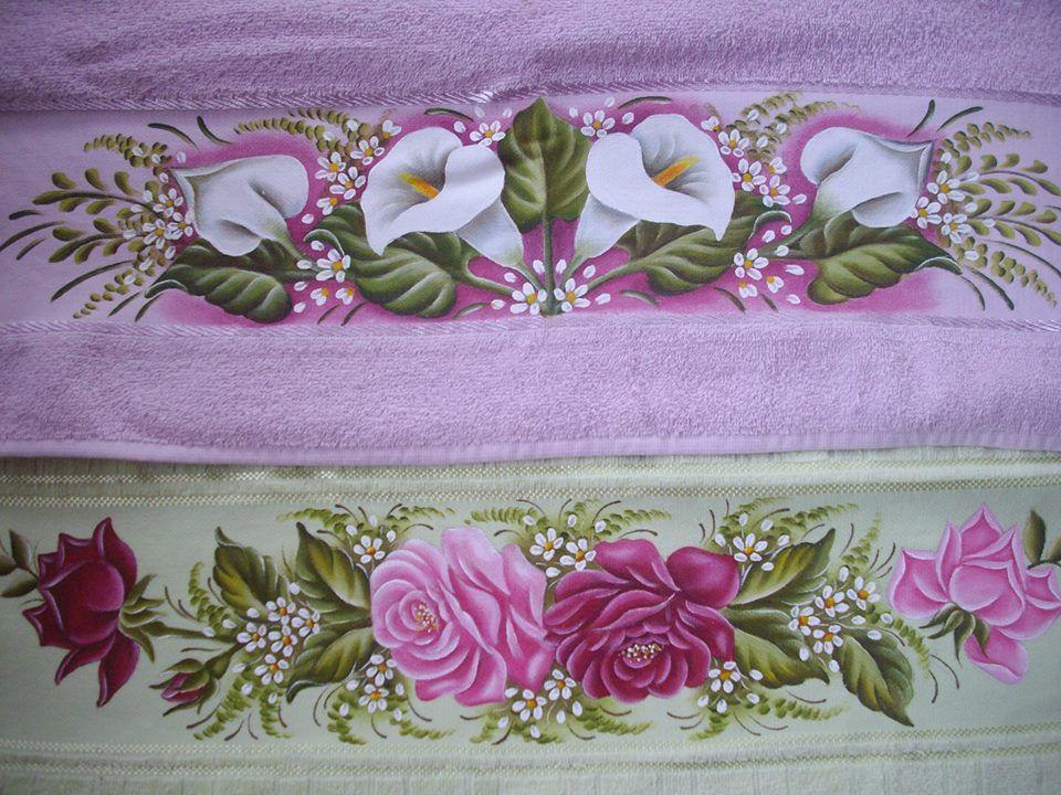 toalhas de banho pintadas