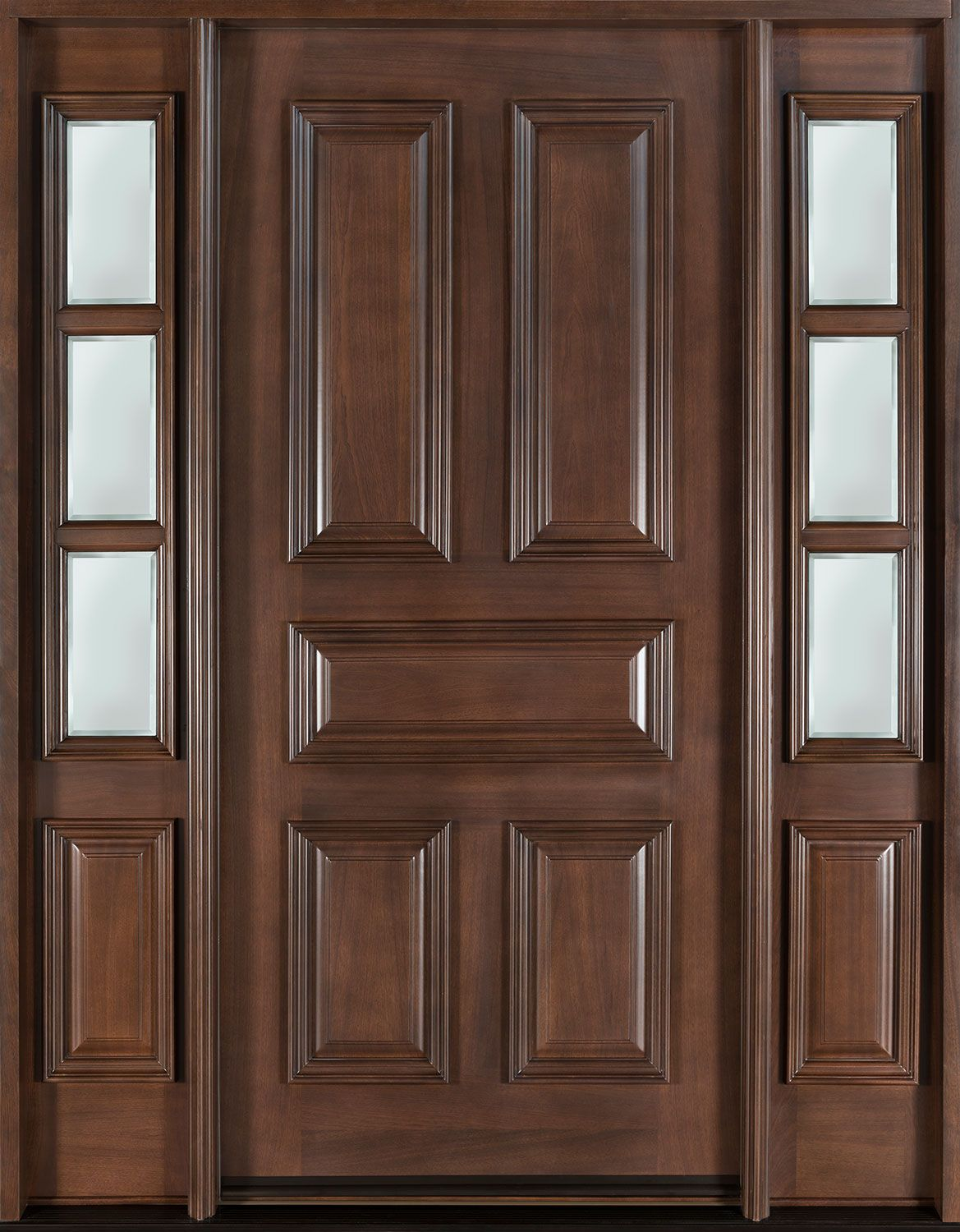 Entry door in stock single with 2 sidelites solid wood with great site for seeing different types and configurations for front doors front entry custom mahogany door single with 2 sidelites classic collection rubansaba