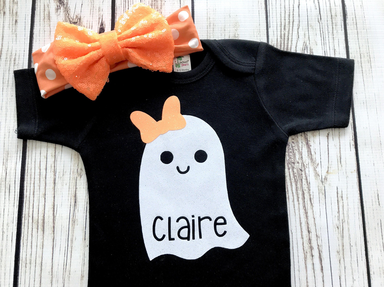 Halloween Spooky Ghost Kids Cotton T-Shirt Basic Soft Short Sleeve Tee Tops for Baby Boys Girls