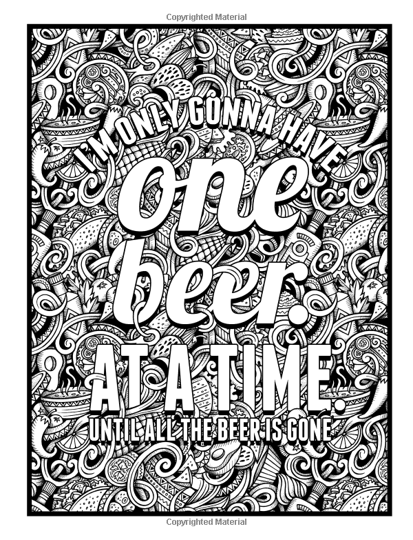 Beer Life A Snarky Adult Coloring Book For Lovers Unique Antistress Colouring