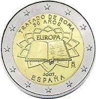 moneda España 2 euros 2007 Tratado de Roma, Tienda Numismatica y Filatelia Lopez, compra venta de monedas oro y plata, sellos españa, accesorios Leuchtturm