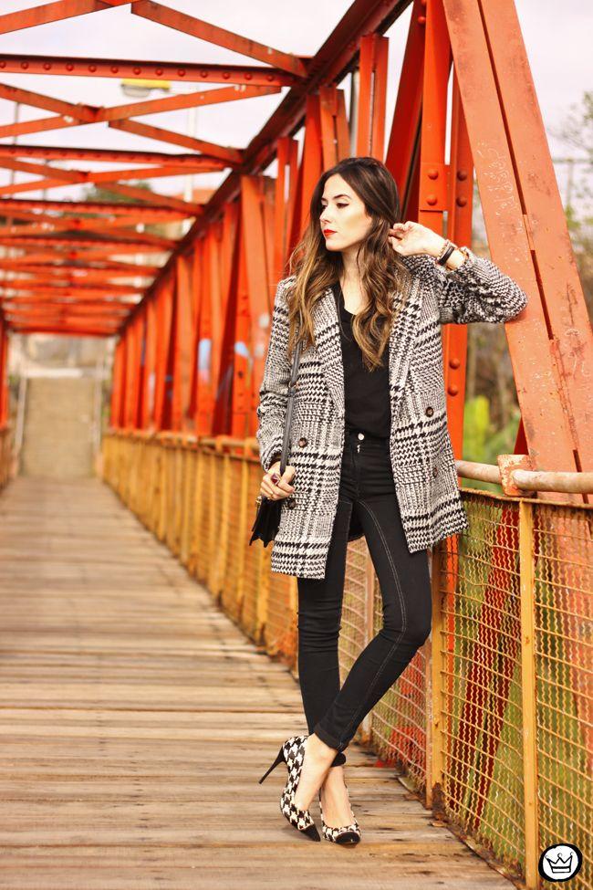 Fashioncoolture 27 06 2015 look du jour chicwish pied de poule plaid black and white