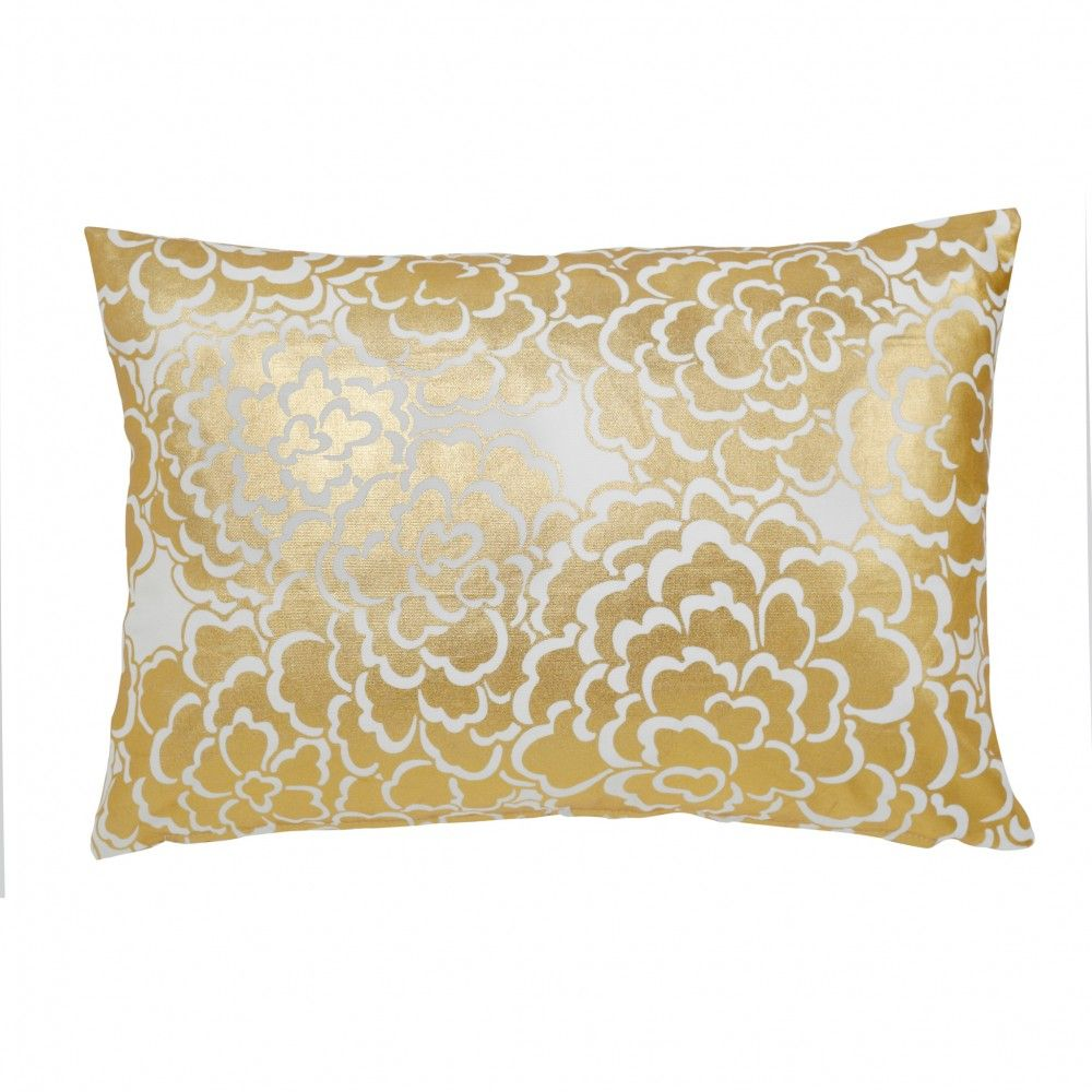 Caitlin wilson textiles gold fleur pillow x for on an office chair