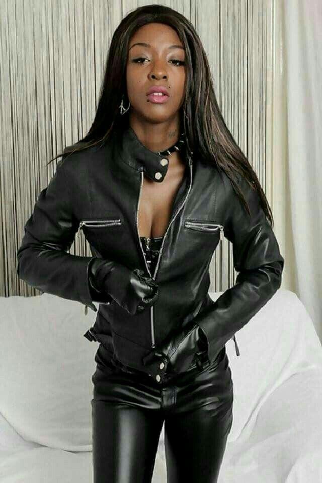 Pin on girls wearing leather