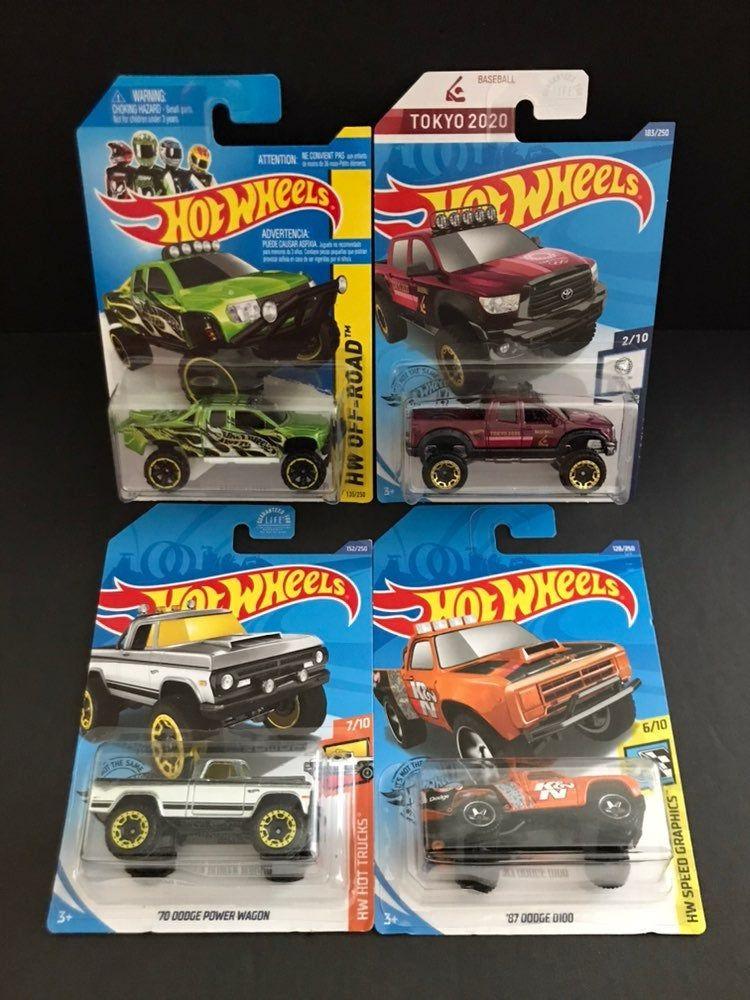 2014 Hot Wheels Trucks Lot Of 4pcs Walmart Exclusive Zamac Mainline Cards Blisters Have Normal Shelf Wear Please Hot Wheels Hot Wheels Cars Power Wagon