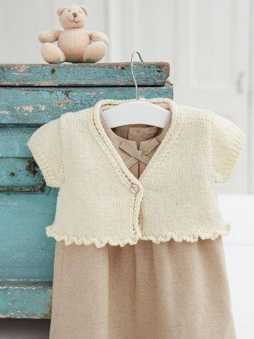 Frilly Cardigan Free Things Baby Cardigan Knitting