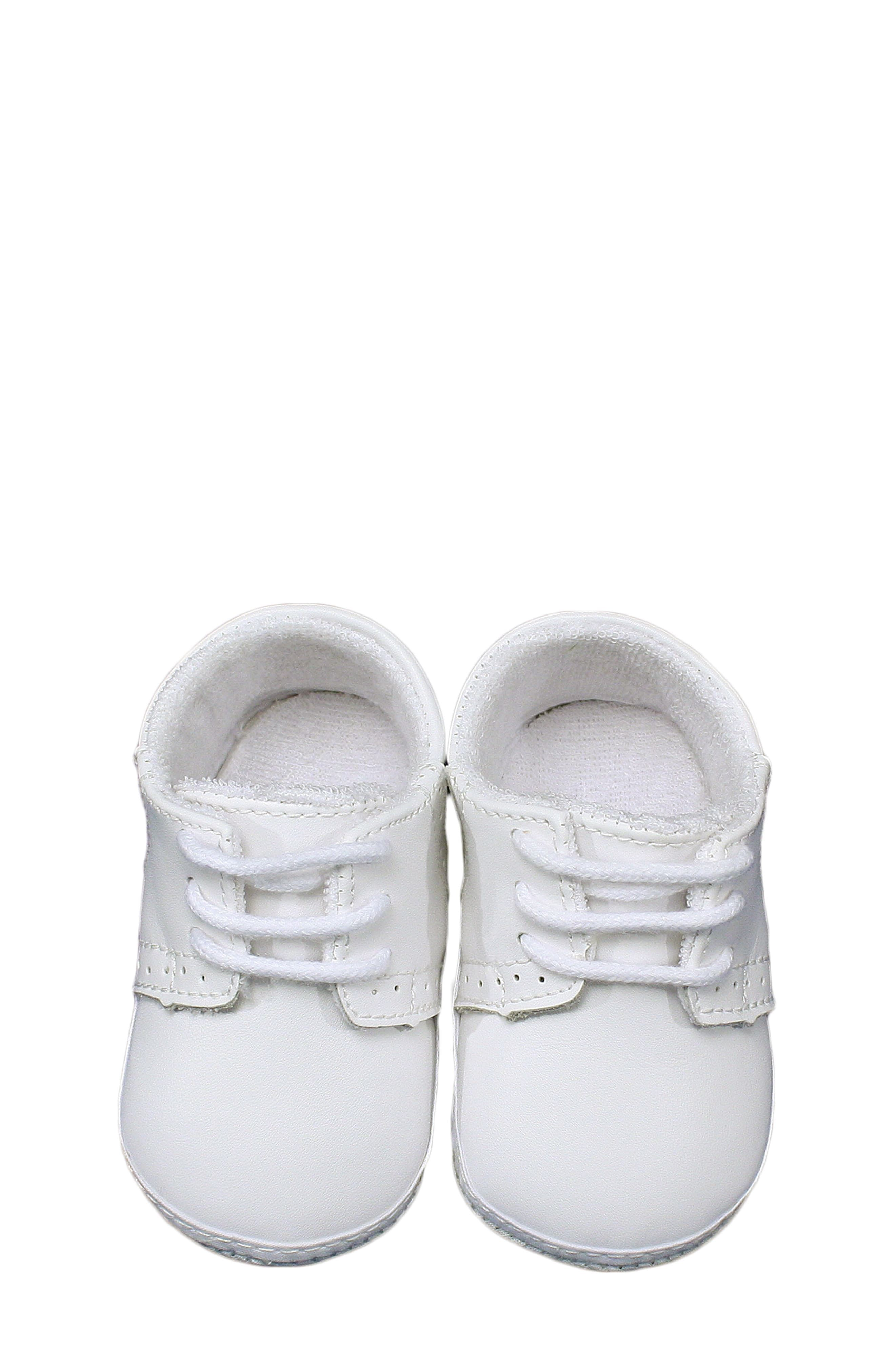 Infant Boy's Little Things Mean A Lot Leather Crib Shoe ...