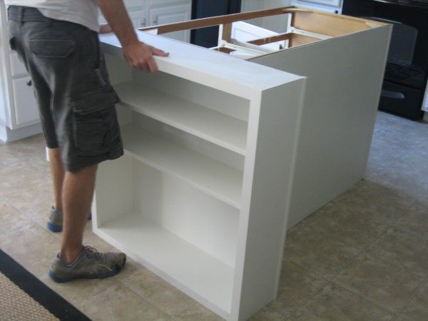 Diy Kitchen Island Ikea add shelving to each side of the cabinents to create a sitting