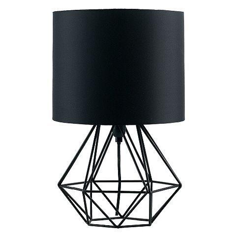 Tesco direct angus geometric satin black base table lamp black