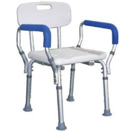 Roscoe Medical Adjustable Shower Chair With Back And Handles