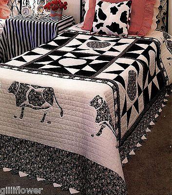 The cow applique & block vintage quilt pattern | Vintage quilts ... : cow quilt pattern - Adamdwight.com