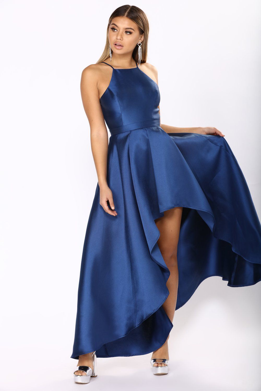 Heartedly High Low Dress Navy Blue High Low Dress Fashion Nova Prom Dresses High Low Dress Formal