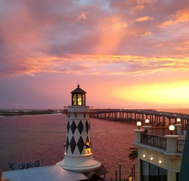 Harry T S Lighthouse Sunset Destin Destin Okaloosa Island Lighthouse