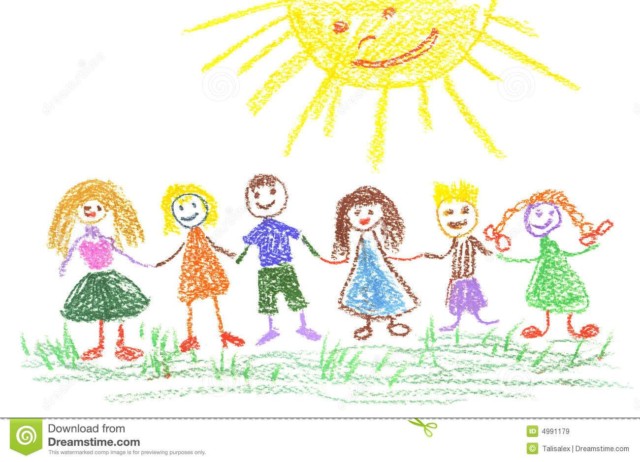 summer day childs drawing - Picture Of Drawing For Kid