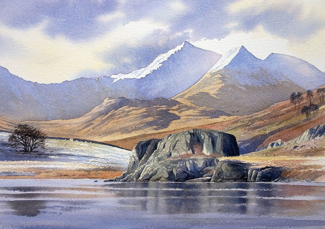 Gallery Landscape Watercolour Paintings Of Snowdonia The Lake District And Scotland Landscape Drawings Watercolor Landscape Paintings Watercolor Landscape