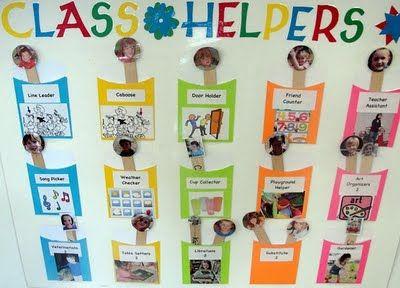 Job charts for preschoolers inspiraci n para los educadores de