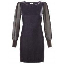 Night fine velvet tunic dress - £239.00