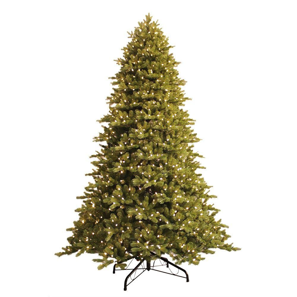 Home Accents Holiday 7 5 Ft Pre Lit Led Lexington Quick Set Artificial Christmas Tree With Warm White Artificial Christmas Tree Christmas Tree Holiday Lights