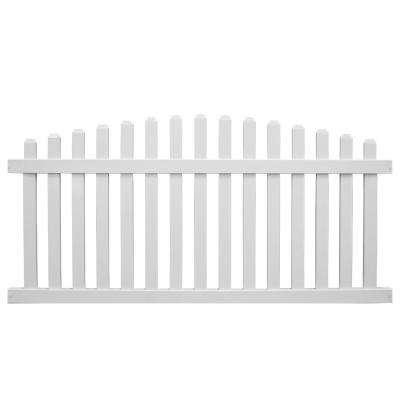 Sanibel 5 Ft H X 8 Ft W White Vinyl Picket Fence Panel Kit Fence Panels Vinyl Fence Panels Picket Fence Panels