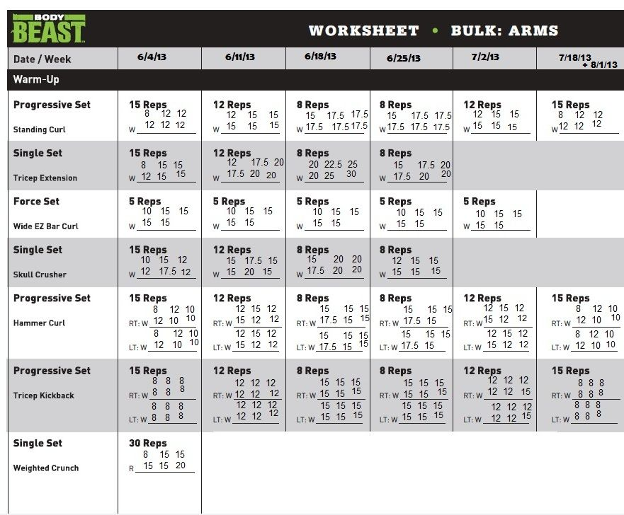 Beast Body Workout Sheets  Yahoo Image Search Results  Body Beast