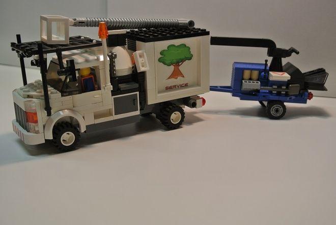 Tree Service Truck Lego Truck Custom Lego Lego Tree
