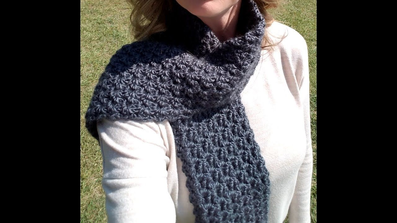 Free Crochet Stormy Waters Infinity Scarf Youtube Crochet Mens Scarf Scarf Crochet Pattern