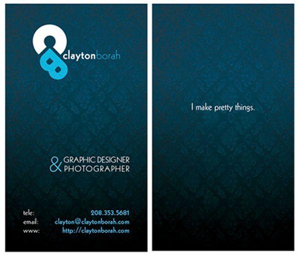 50 Designs De Cartes Visites Directeurs Artistiques Photographes Webdesigners