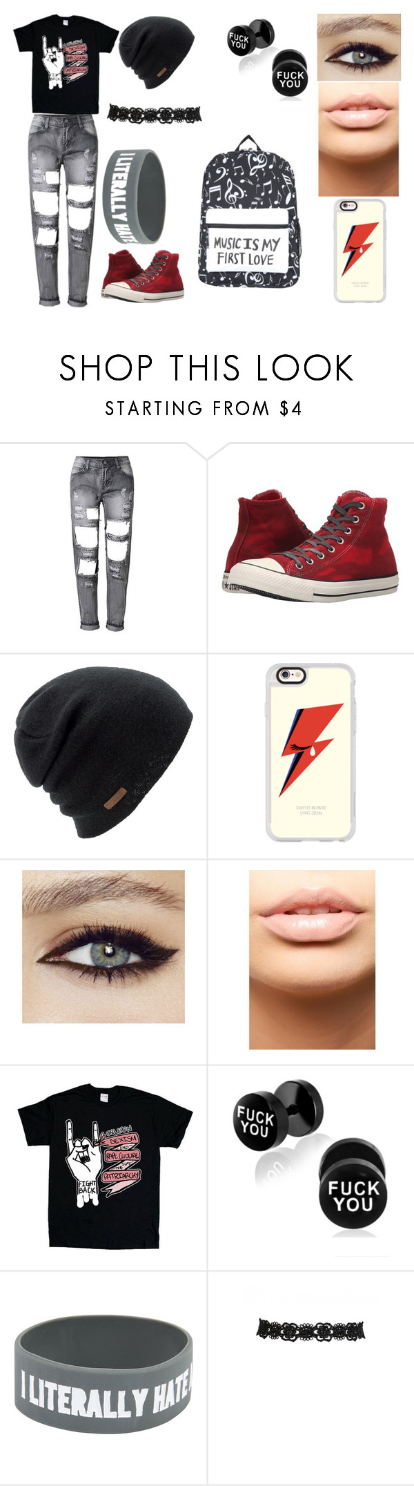"""""""Halle #1"""" by erementaruartist on Polyvore featuring Converse, Coal, Casetify and MDMflow"""