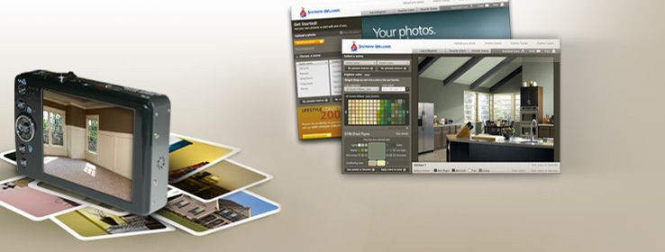 This lets you upload a picture of your room and play for Paint your own room visualizer