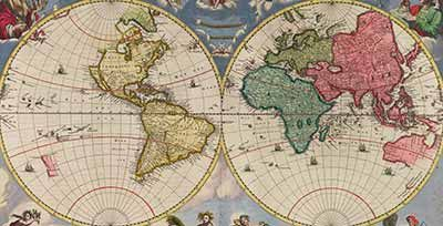 Blaeu atlas maior 1662 a world map showing countries on two blaeu atlas maior 1662 a world map showing countries on two circular maps gumiabroncs Choice Image