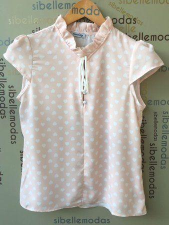 619538cf42241 BLUSA CREPE PRINT CORAÇÃO   patron   Pinterest   Fashion, Blouse y ...