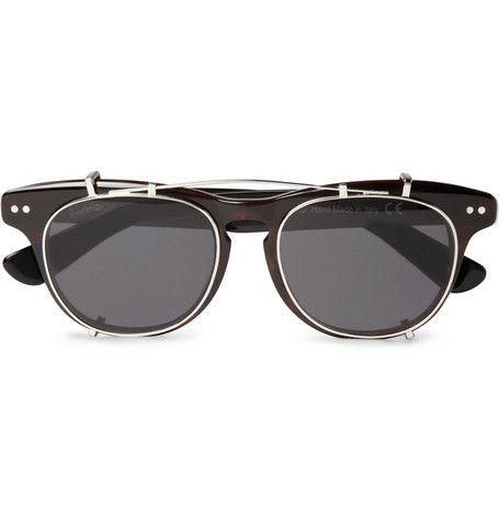 Illesteva Lenox Detachable Front Square-Frame Sunglasses  | MR PORTER