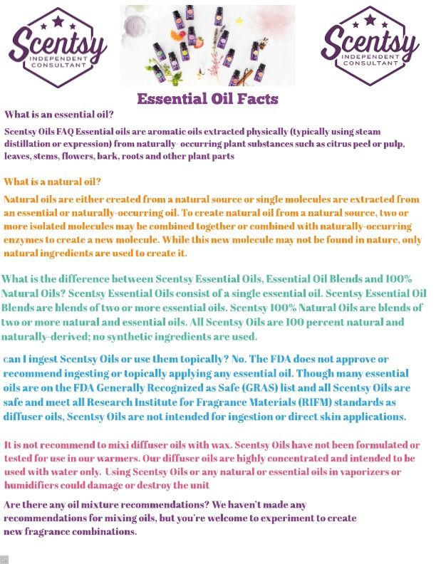 Scentsy Essential Oil Facts! | Scentsy in 2019 | Scentsy