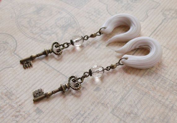 Keys To The Kindom Gauged Earrings by TheCreatorsCreations on Etsy, $22.00