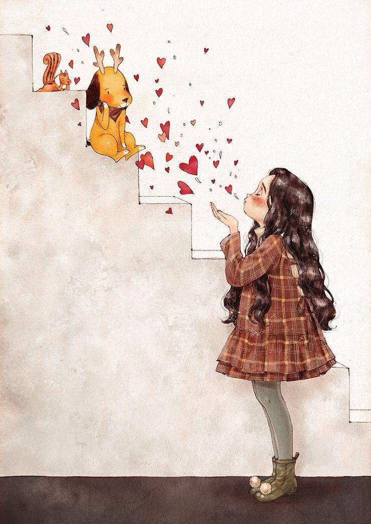사랑을 드릴게요 I Ll Give You Love By 애뽈 On Anime Art Girl