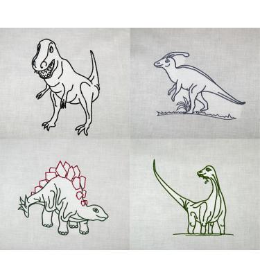 dinosaurier stickdateien t-rex stegosaurus stickmotive dinos stickdesign | dinosaurier