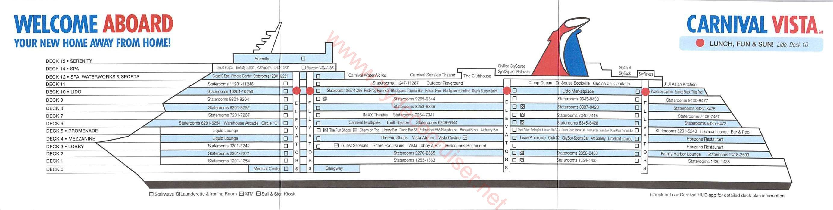carnival cruise ship diagram sony cdx gt57up wiring deck plans vista plan card front back