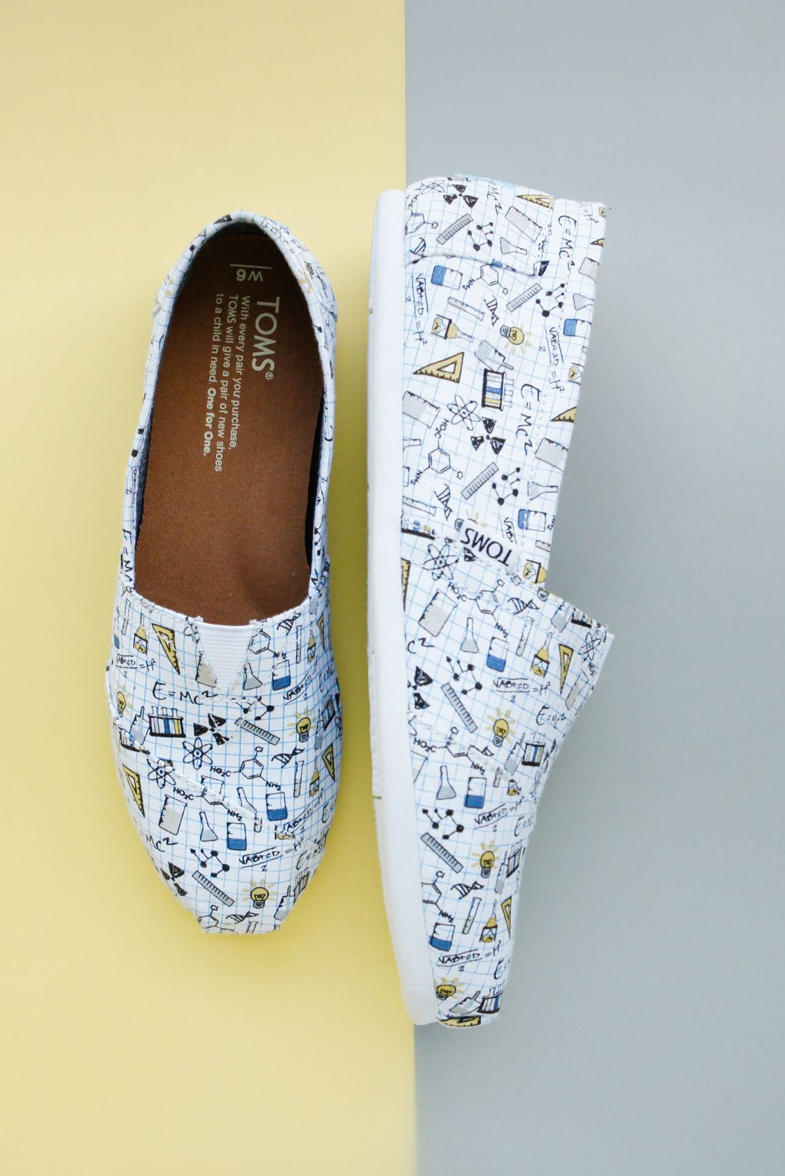 3ba993e34dd The chemistry is clear in these scientific TOMS exclusive Classic shoes.