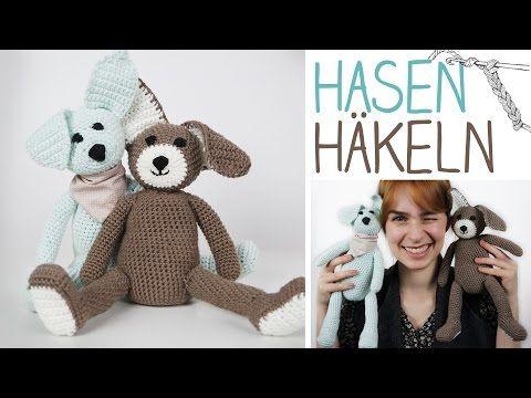 Video Häkelanleitung Hase DIY Kuscheltier selbermachen - Hase häkeln ...