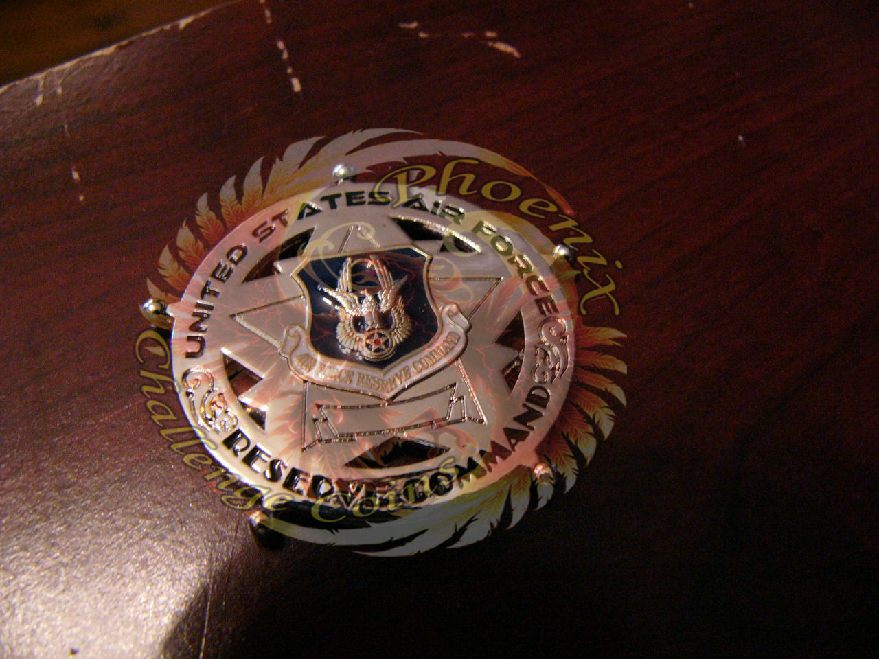 Western Recruiting Squadron Commanders coin Back by Phoenix