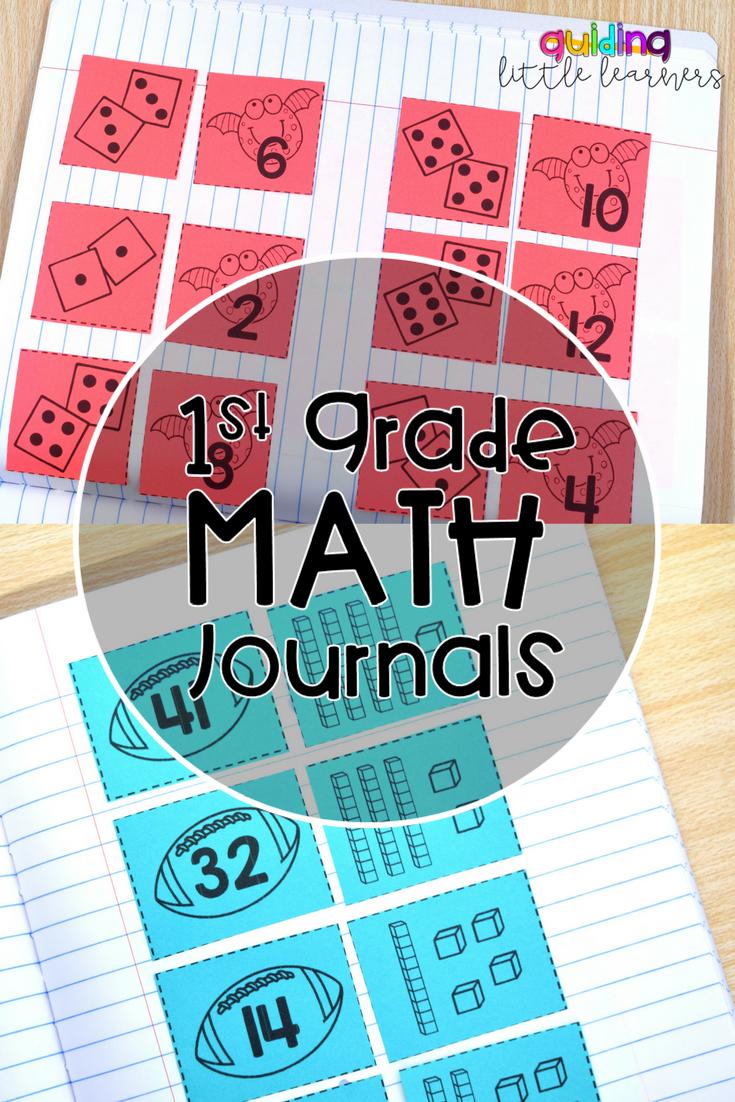 Interactive Math Journals 1st Grade BUNDLE   Math journals ...