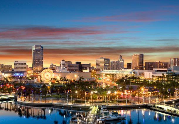 Long Beach, LA, California | Long beach california, Downtown long beach,  California photography