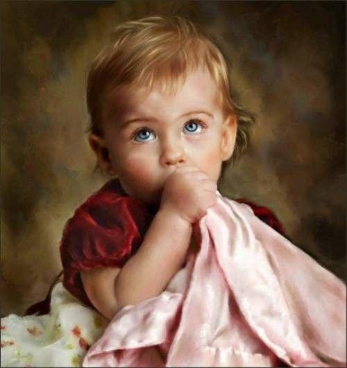 Superbes portraits d'enfants en peinture
