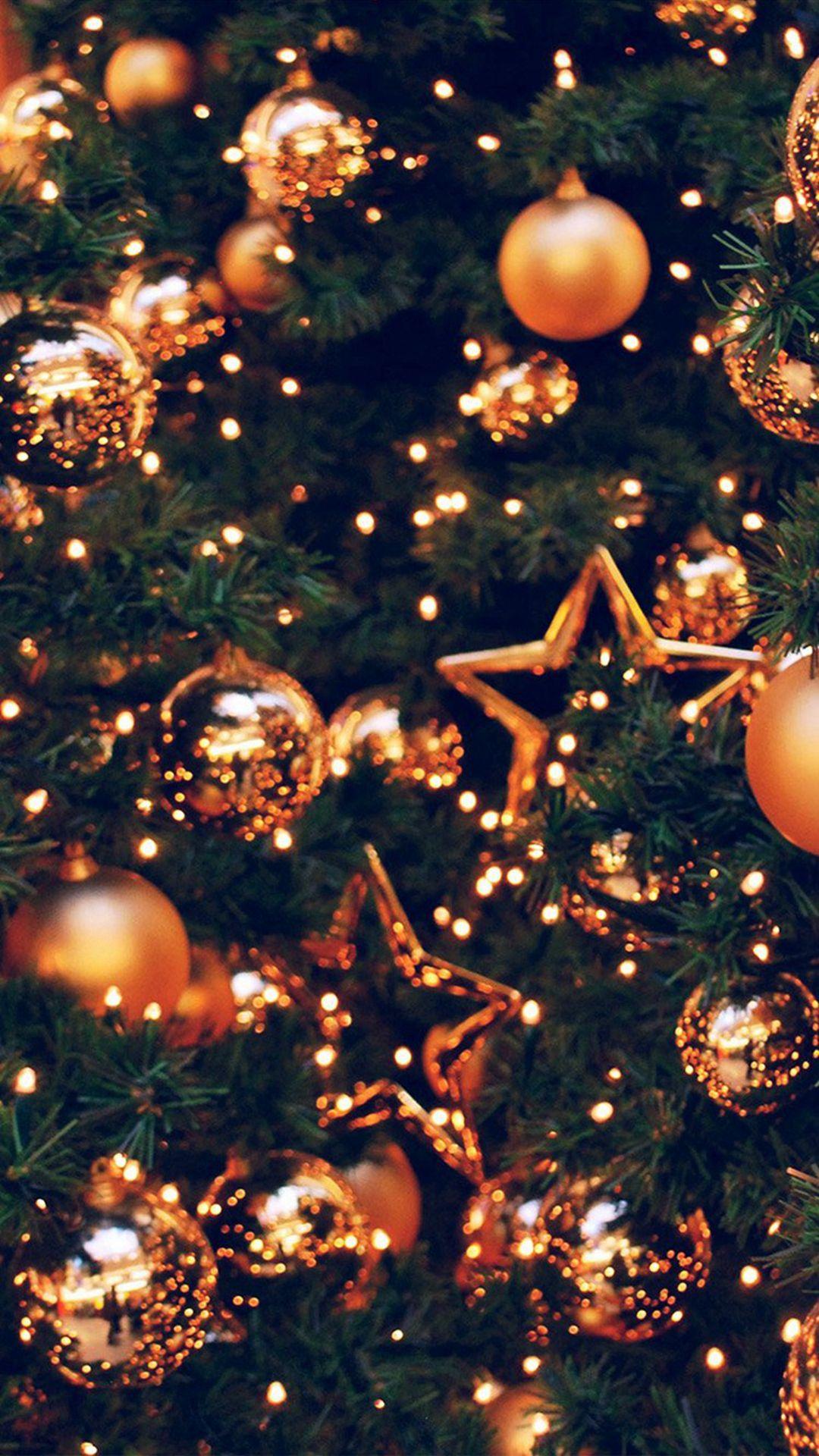 Decoration Holiday Christmas Illustration Art Gold iPhone