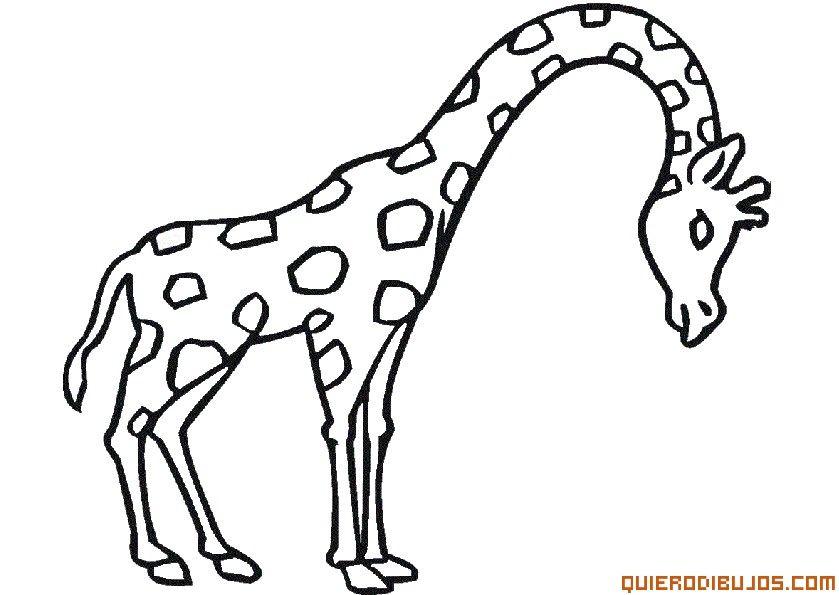 Jirafa Para Colorear Az Dibujos Para Colorear En 2019 Animales
